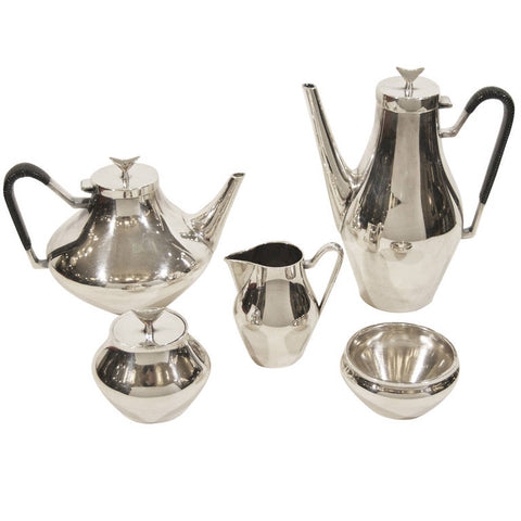 """Denmark"" Complete Tea and Coffee Service by John Prip for Reed & Barton"
