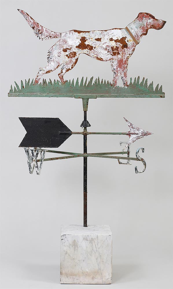 Fine Metal New England Dog Weathervane