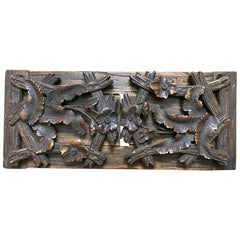 German Black Forest Hand Carved Bookshelf