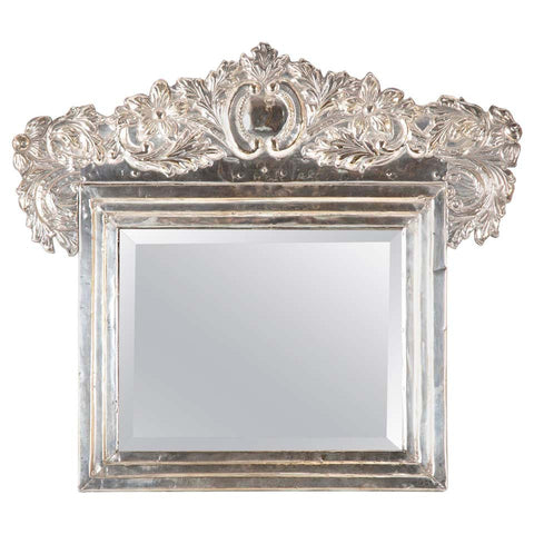Spanish Colonial Style Peruvian Silver Table Mirror