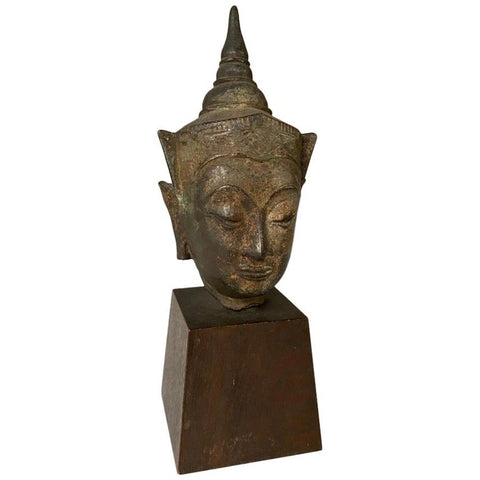 16th Century Thai Bronze Buddha Hea