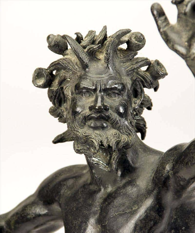 "19th Century ""Dancing Faun"" Bronze Statue"
