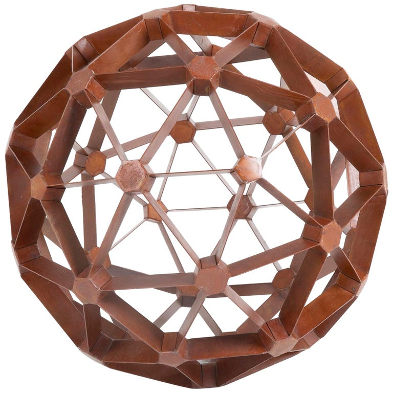 Waxed Steel Geodesic Sphere