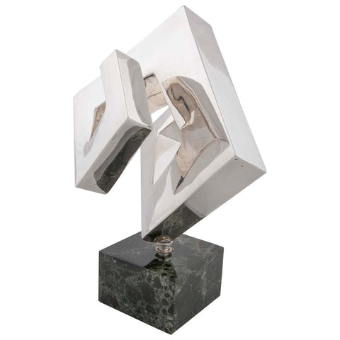 Abstract Sculpture by Lucile Driskell Resembling a Greek Key