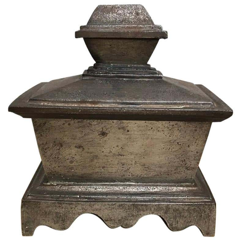 Grand Tour Steel Sarcophagus Form Box