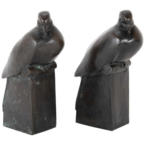 A Pair of Bronze Sculptures After François Pompon