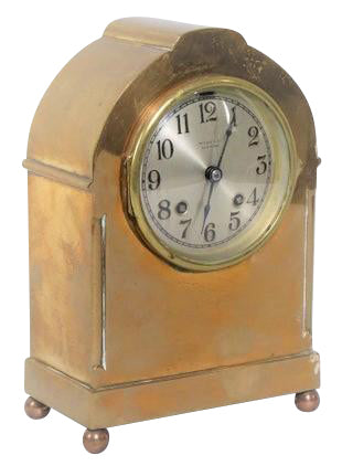 Tiffany Brass Mantel Clock