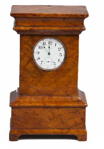 Continental Watch Safe in Form of Mantel Clock