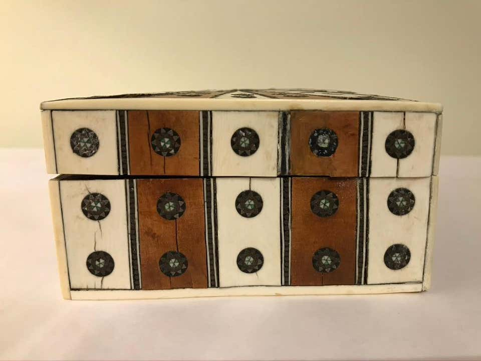 Anglo Indian Inlaid Sandalwood and Bone Box