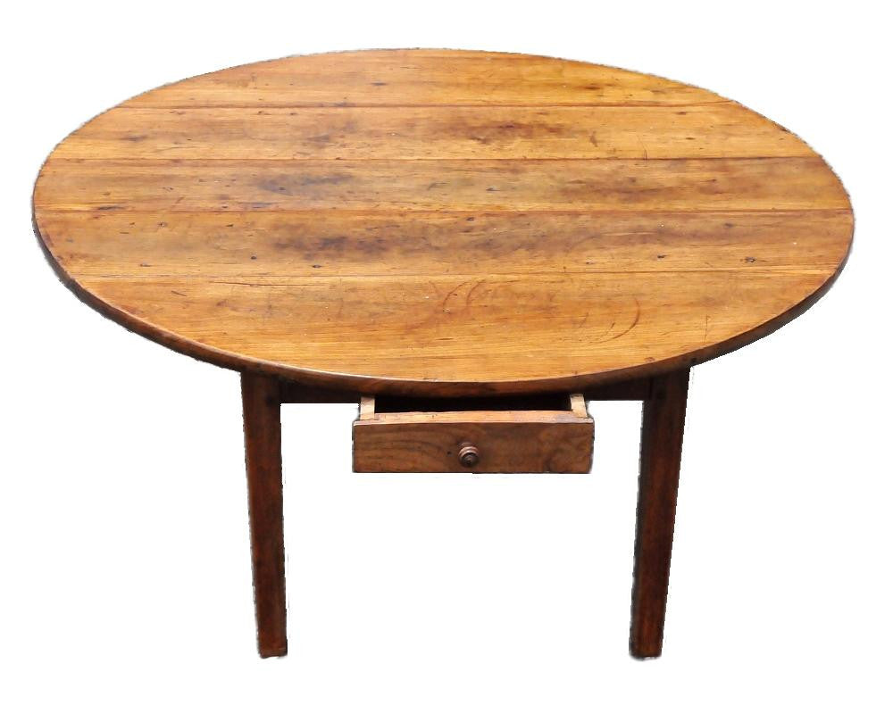 French Almost Round Coffee Table