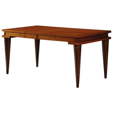 Mahogany and Brass Inlay Desk by Andre Sornay
