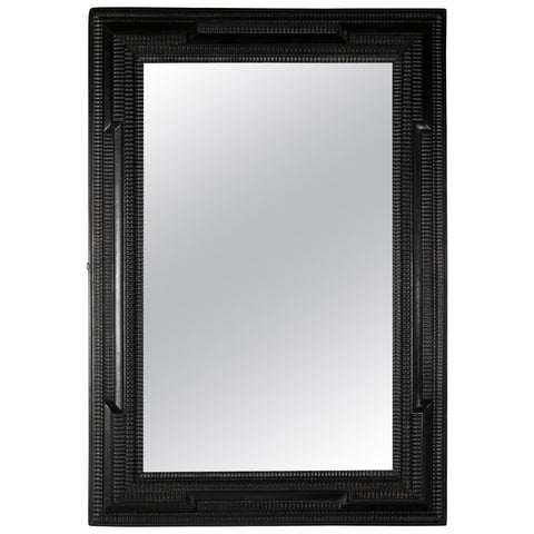 Dutch Style Mirror with Ebonized Frame