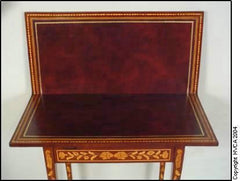 Dutch Inlaid Games Table