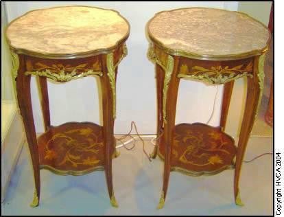 French Marquetry Stands