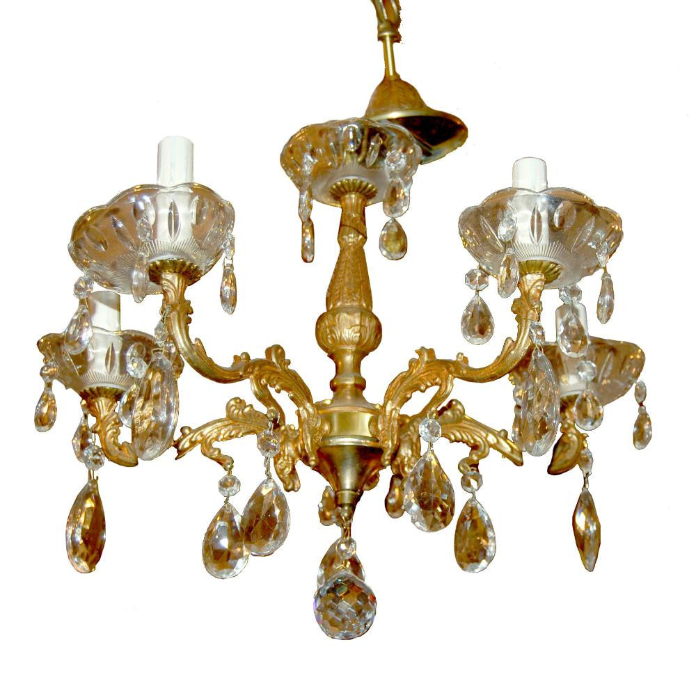 French Drop Crystal Chandelier