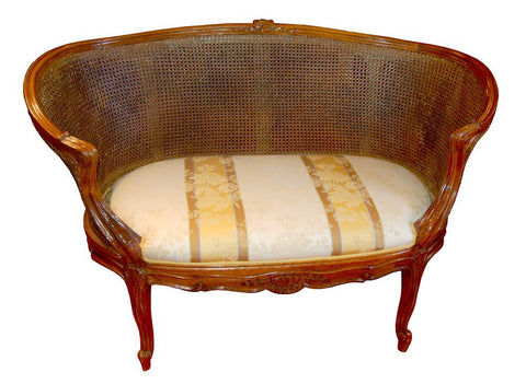 Double Sided Caned French Settee