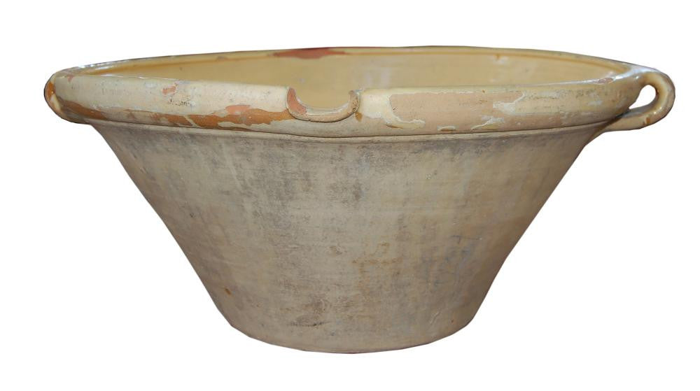 French Yellow Glazed Pot