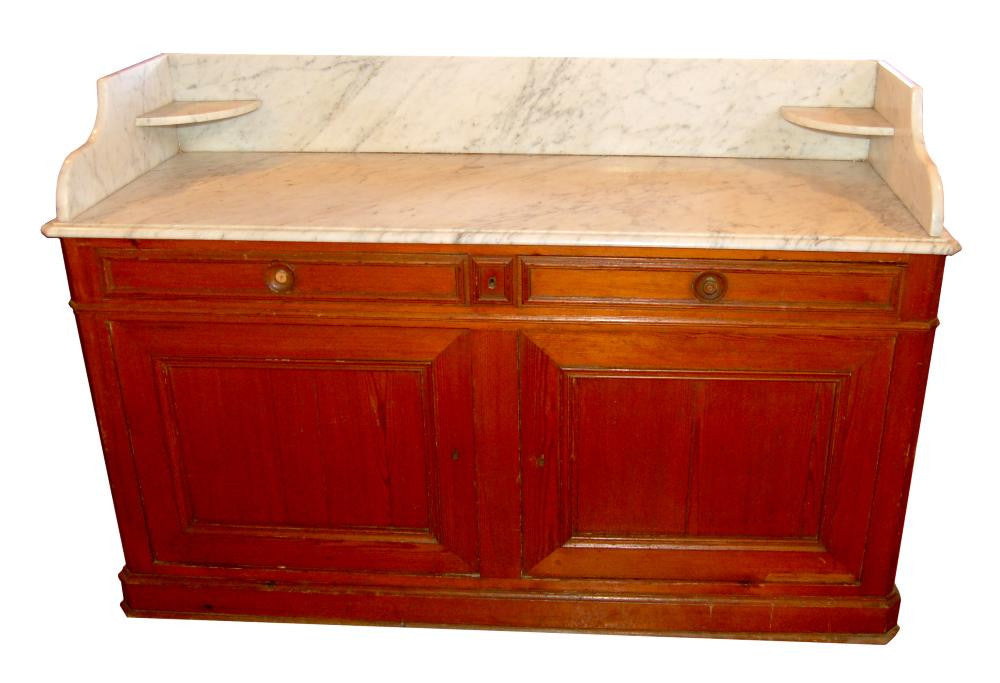Extra Large Marble Topped painted vanity