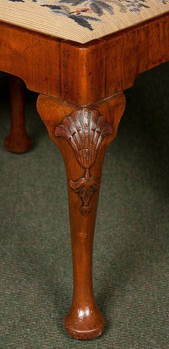 Queen Anne Walnut Stool