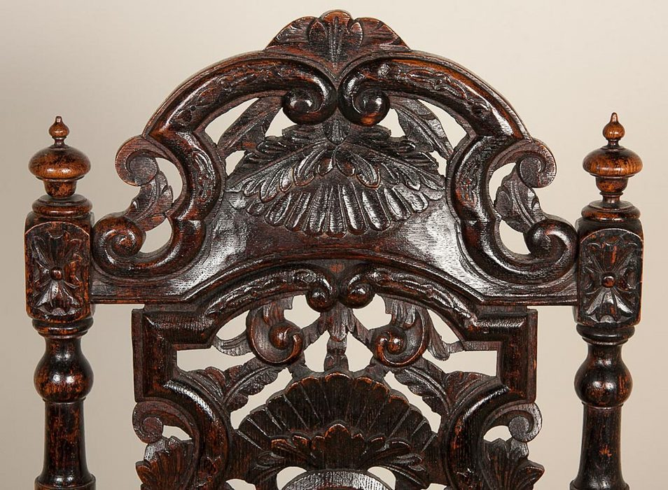 Four Jacobean Style Side Chairs