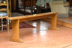 A Long Narrow Church Bench From Normandy