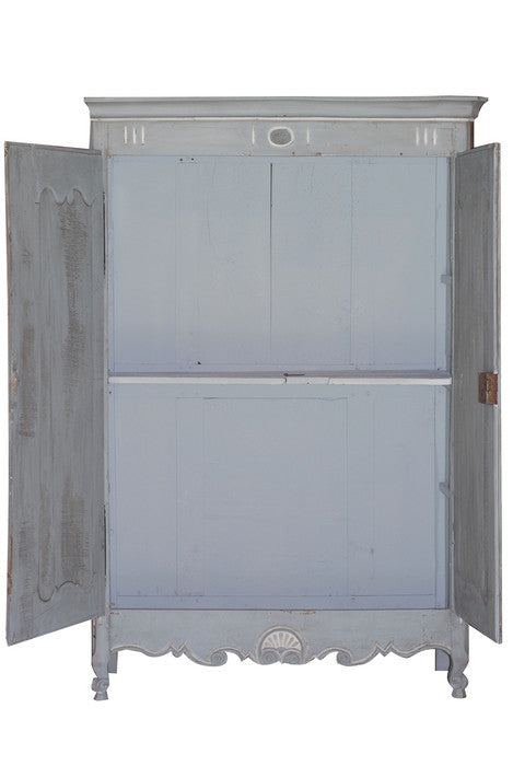 Blue & White Painted Armoire