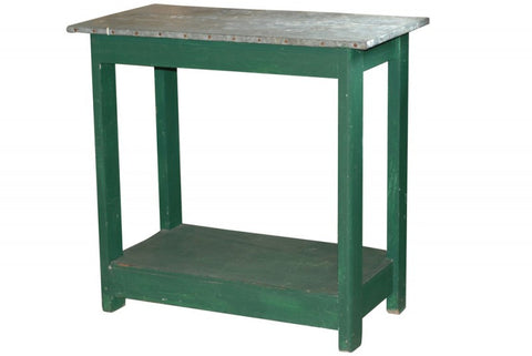 French Zinc Top Table