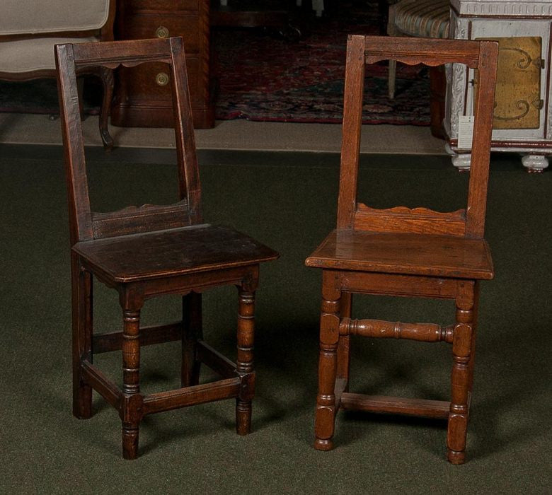 Two French Oak Chairs