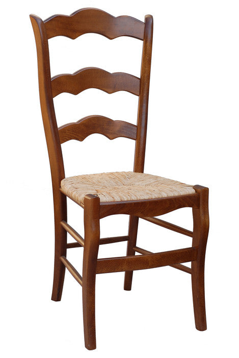 Set of 8 Chairs with Rush Seats