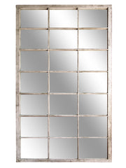 Oversized Vintage barn window mirror
