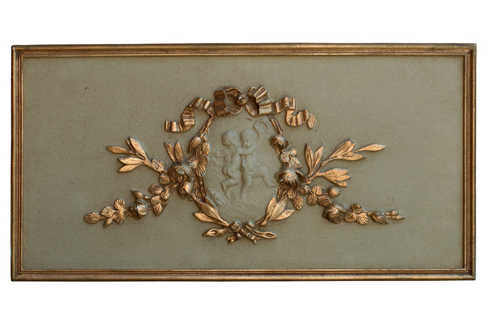 French plaster plaque