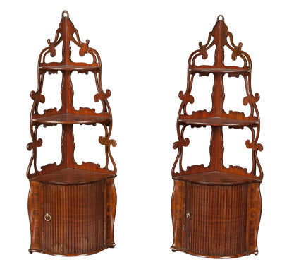 Pair of French Corner Shelves
