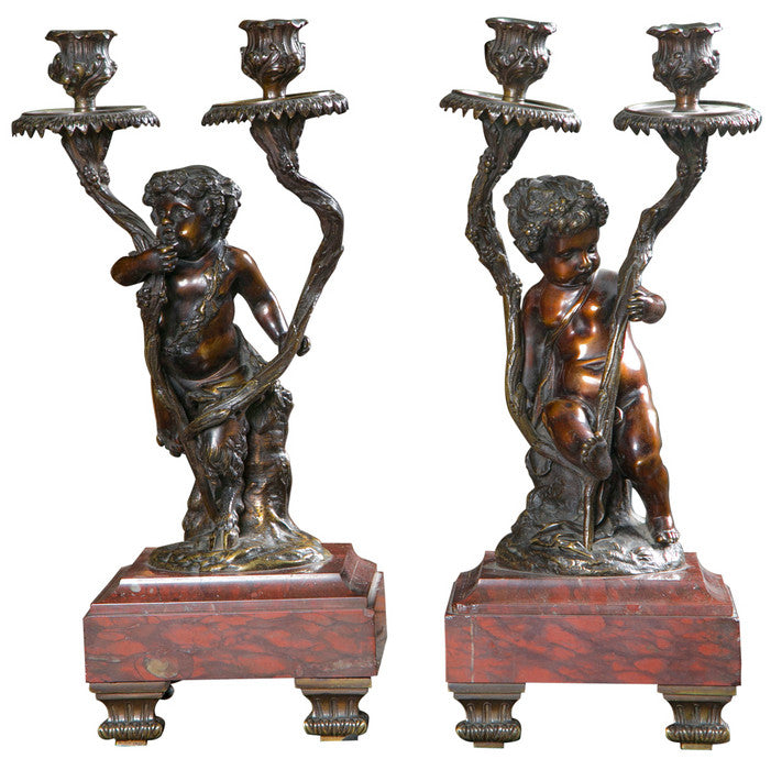 Pair of Rococo Style Candelabra