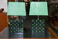 Pair of Polka Dot Lamps