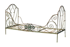 French Iron Bed Green