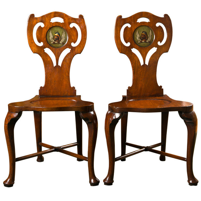 George III Mahogany Hall Chairs