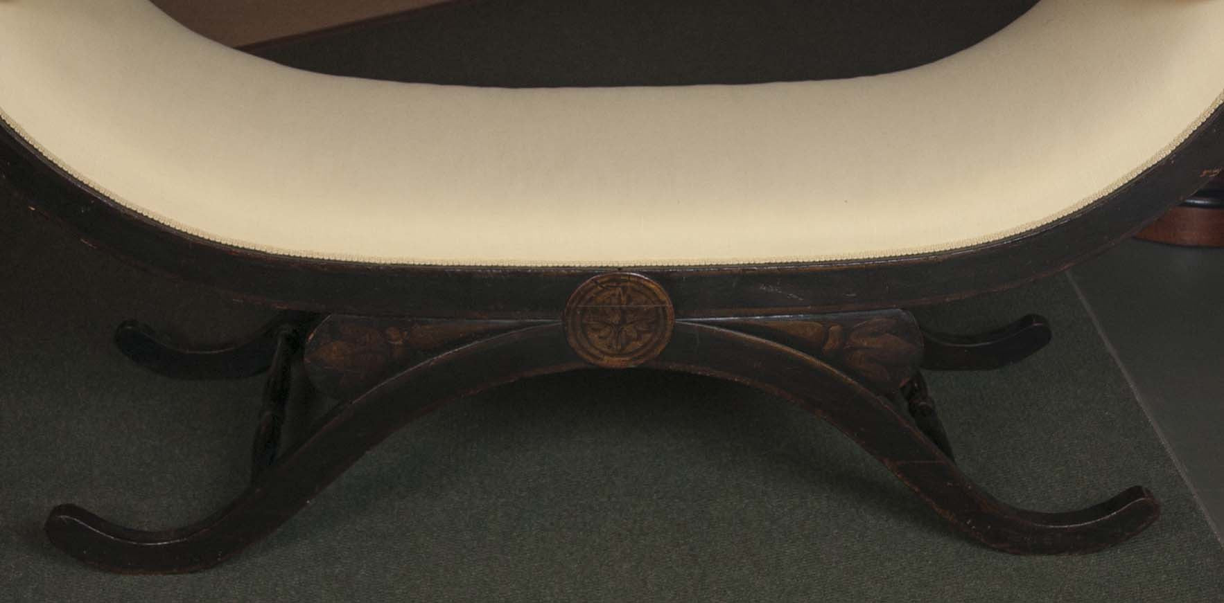 Large Scroll Arm Bench