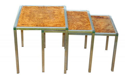 Faux Tortoise Nesting Tables