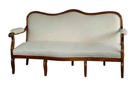 French Fruitwood Frame Sofa
