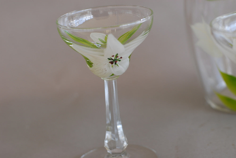 Hand Painted Martini Set