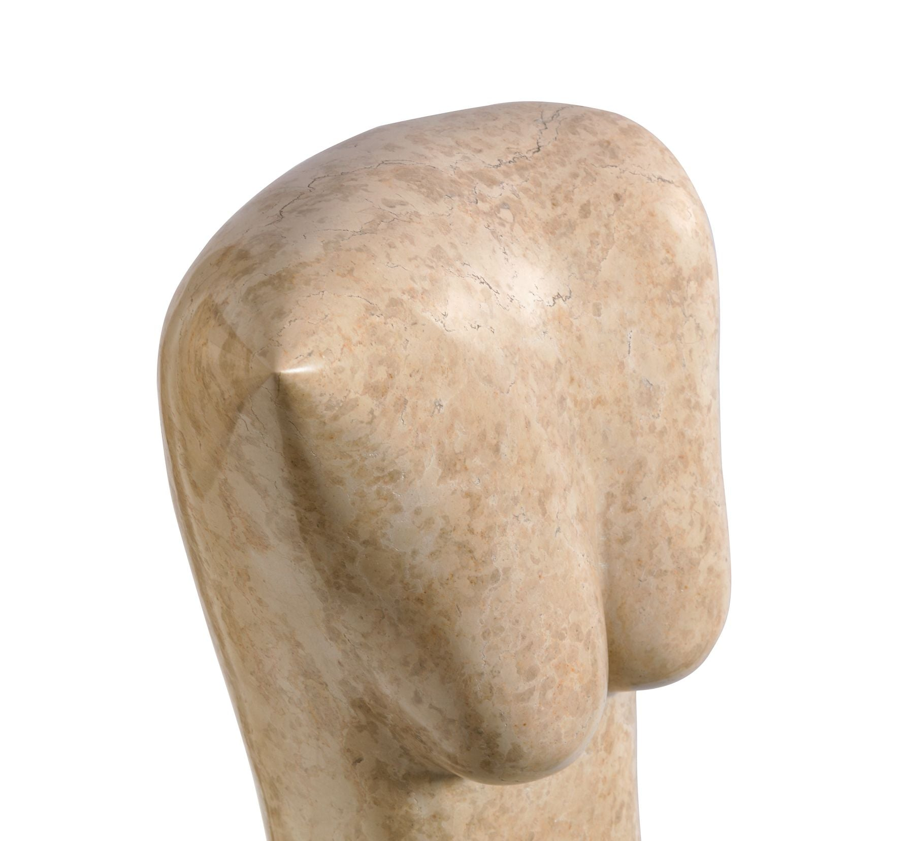 Abstract Figural Marble Sculpture by Oriani