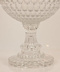 Thumbprint Glass Compote
