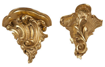 Two Similar Gilded Wall Brackets