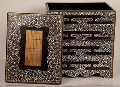 Inlaid Black Lacquer Jubako Box