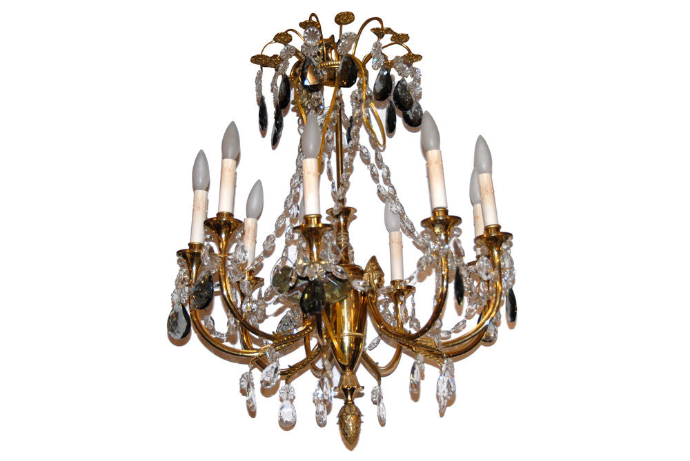 A 9-arm Crystal Chandelier