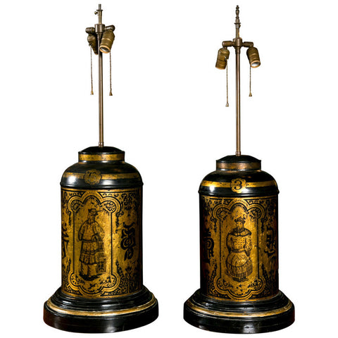 Oriental Tea Canisters as Lamps