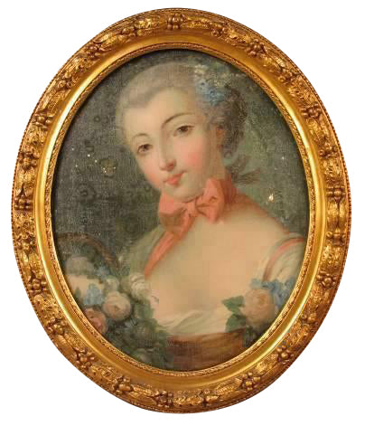 Reverse Painting of a Lady