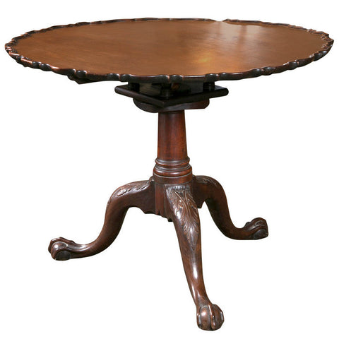 Chippendale Pie Crust Tilt Top Table