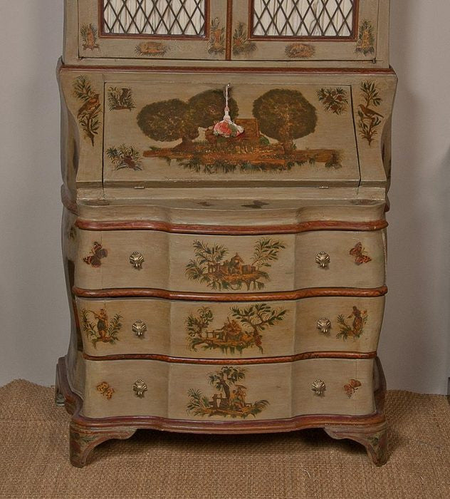 Baroque Style Painted Secretary