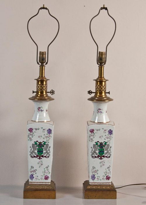 Pair Of Porcelain Lamps